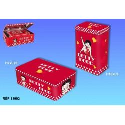 Set van 2 dozen rechthoekige uittrekbare Betty Boop