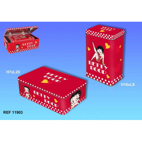 Set of 2 boxes rectangular pullout Betty Boop