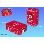 Satz von 2 Boxen rechteckige ausziehbare Betty Boop