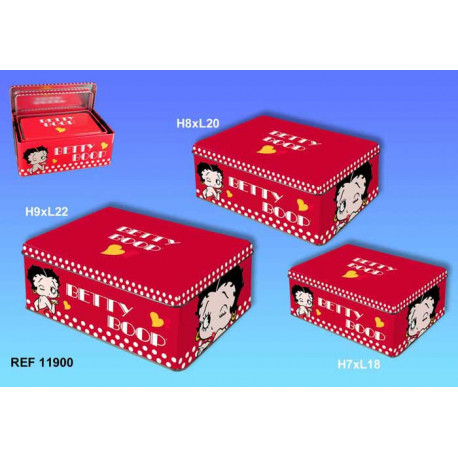 Retirada rectangular cajas Betty Boop