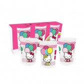 Lote de 3 vasos globos de Hello Kitty