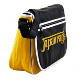 Bolso de hombro de Japón trapos negro y amarillo 39 CM
