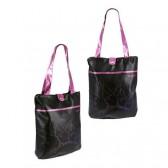 Playboy zwarte en roze handtas