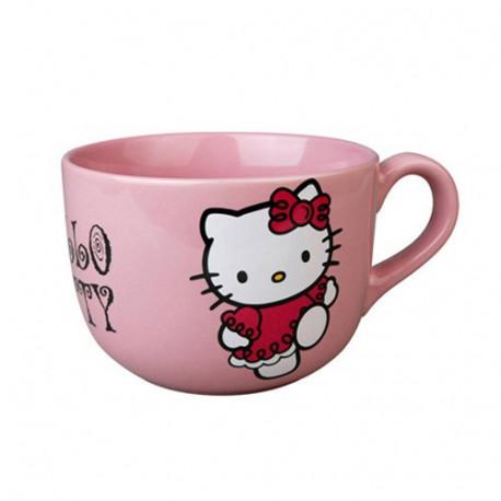 Beker jumbo Hello Kitty roze