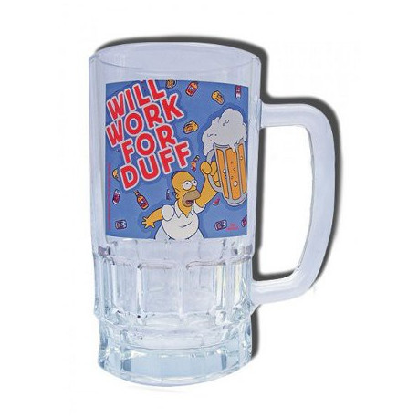 Homer Simpsons Duff Beer glass
