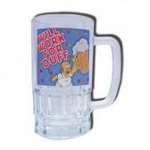 Cristal cerveza Duff de Homero Simpson