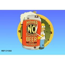 Pendule bois Homer Simpson Bière