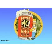 Pendel Holz Homer Simpson Bier