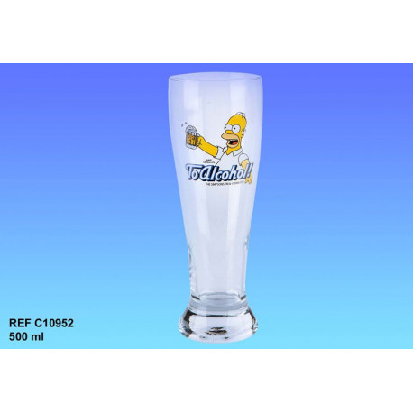 Homer Simpson beer glass