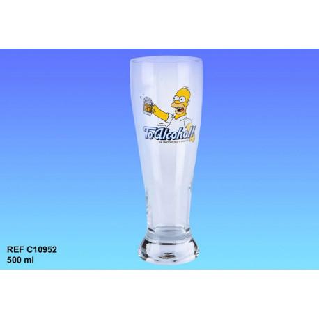 Vaso de cerveza de Homer Simpson