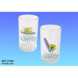 Cristal Bob SquarePants surf, juego de 2