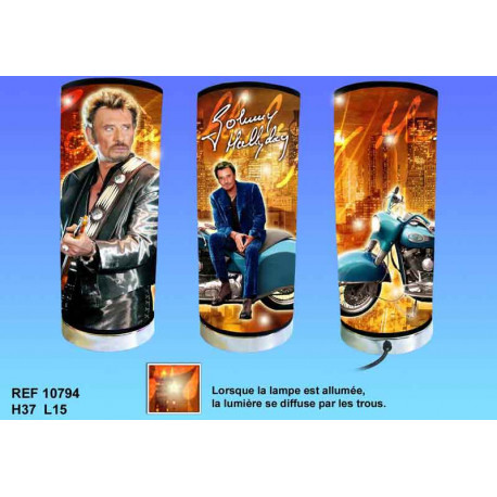 Lamp cylindrical Johnny Hallyday motorcycle