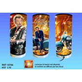 Lampe cylindrique Johnny Hallyday Moto
