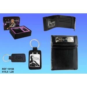 coffret cadeau johnny hallyday portefeuille chanteur la boutique des toons. Black Bedroom Furniture Sets. Home Design Ideas