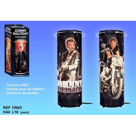 Lampe tournante Johnny Hallyday