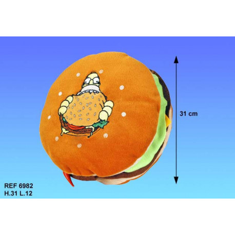 Cojín hamburguesa de Homer Simpson