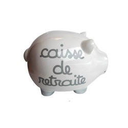 Piggy bank pig giant retirement