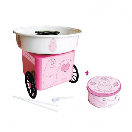 Candy floss machine + box round Barbapapa