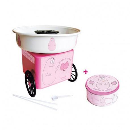 Candy Floss Maschine + Box Runde Barbapapa