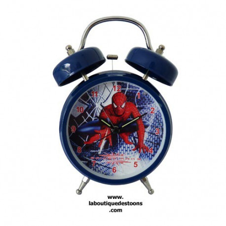 Alarm clock blue Spiderman 18 CM