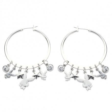 Playboy big hoop earrings