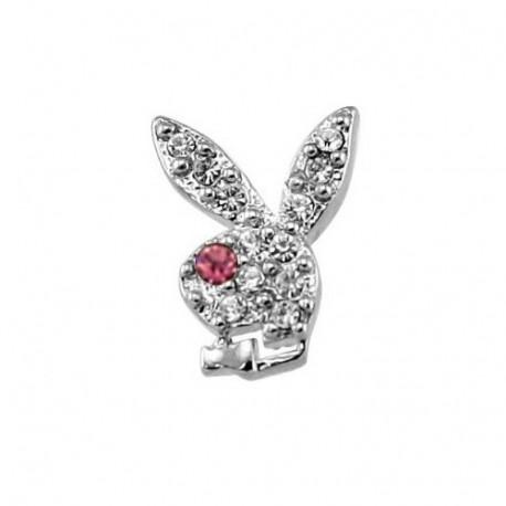 Playboy silver rhinestone earrings