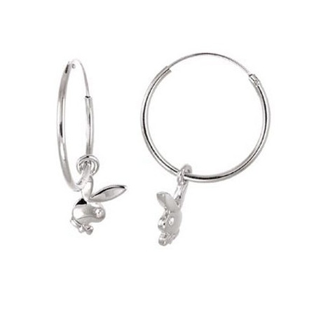 Playboy hoop earrings