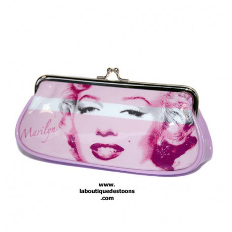 Munt portemonnee lang roze Marilyn Monroe