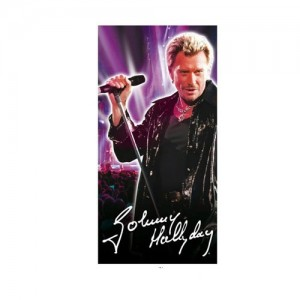 Drap de bain johnny hallyday concert la boutique des toons for Miroir johnny hallyday