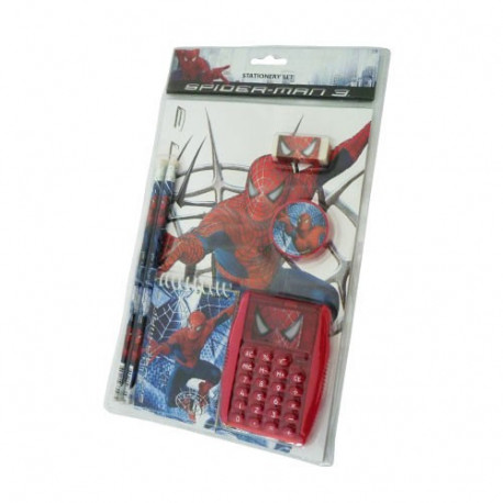 Set scolaire spiderman calculatrice