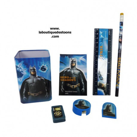 Set scolaire pot à crayons Batman