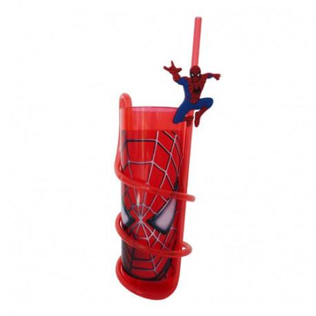 Glas Spiderman PVC met rietje
