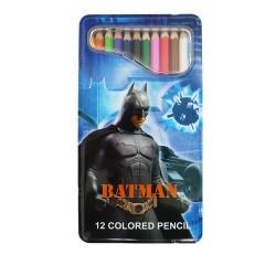 12 crayons de couleur Batman