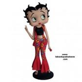 Estatuilla Betty Boop flor