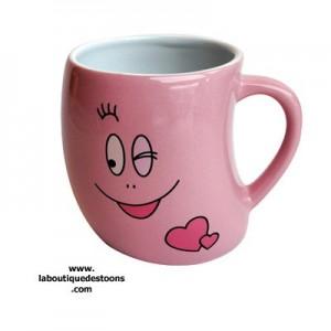 mug barbapapa rose coeurs la boutique des toons. Black Bedroom Furniture Sets. Home Design Ideas