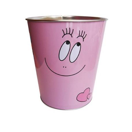 Algodón de azúcar metálico de basura rosa