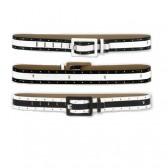 Cinturón de mujer independiente de Playboy - color: negro-blanco-negro - tamaño: L