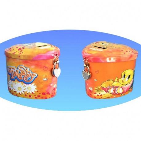 Piggy bank Titi hart oranje