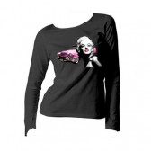 Tee shirt Marilyn Monroe Legend manches longues - Taille : M - couleur : Blanc