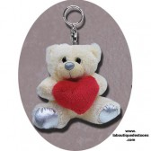 Teddy heart key ring
