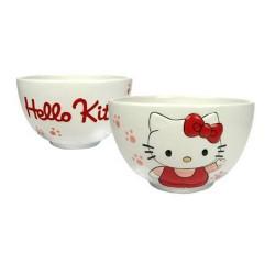 Tazón de fuente blanco 2D Hello Kitty