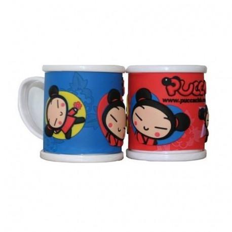 Mug 3D Pucca Pvc - couleur : Rouge