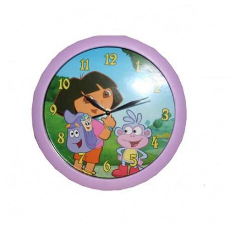 Pendule Dora l'exploratrice Lilas 30 CM