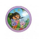 Clock Dora the Explorer lilac 30 CM