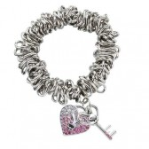 Bracciale cuore Charms di Playboy