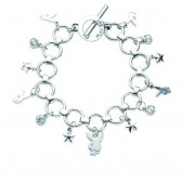 Playboy Bunny and stars Charms bracelet