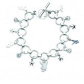 Playboy Charms Bunny bracelet and Stars