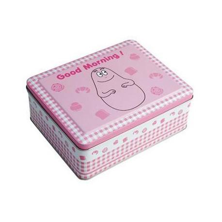 Doos van metallic candy floss roze pastel