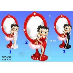 Betty Boop spiegel beeldje goddelijke witte jurk - model 1