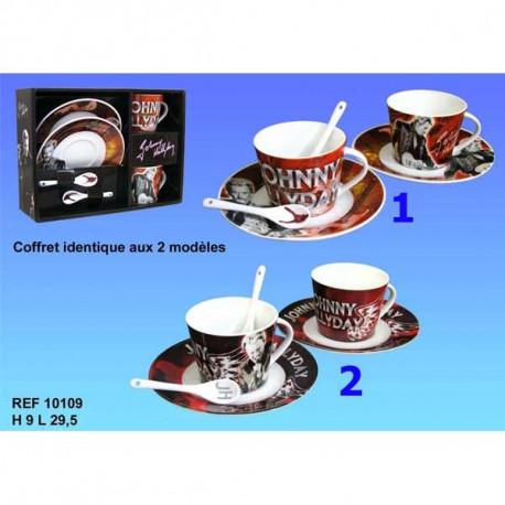 Set of 2 cups Johnny Hallyday - model n ° 1